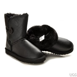 Ugg Australia MICHELLE LEATHER BUTTON Black Арт: ua-button leather-001