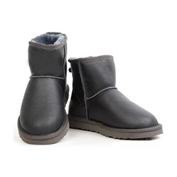 Ugg Australia W CLASSIC MINI LEATHER Grey  Арт: ua-mini leather-004
