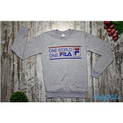 "Свитшот ""One world one FILA"", серый"